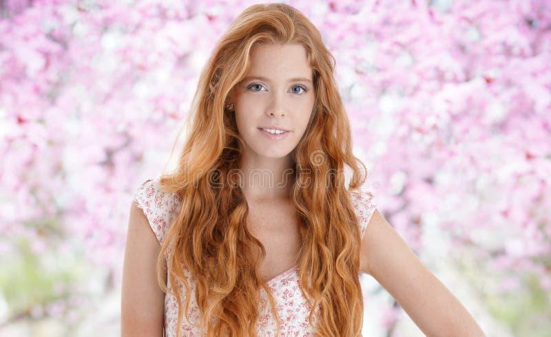 Happy young woman at spring royalty free stock photos