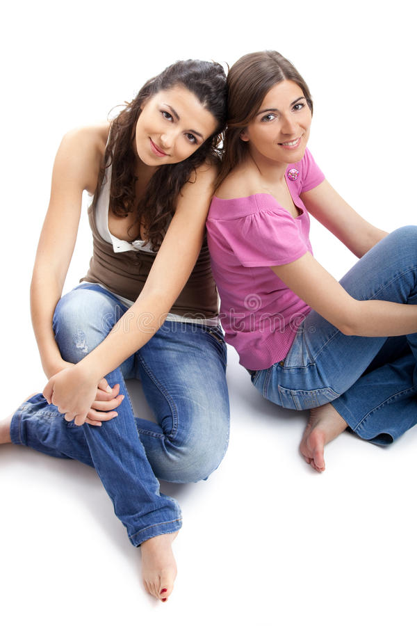 Happy young women's royalty free stock photography