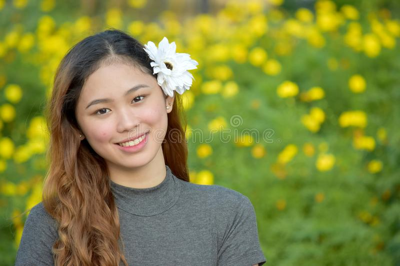 Happy Youthful Asian Adult Female. An attractive and asian person stock photo