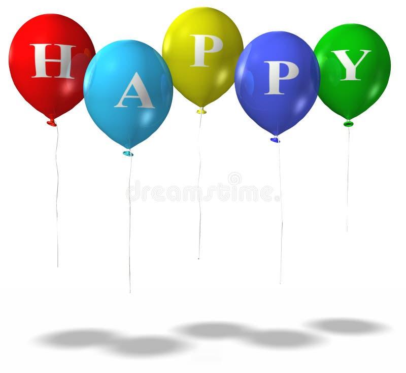 HappyBalloonsISO illustration libre de droits