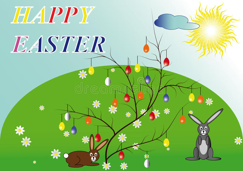 HappyEaster1 royalty free stock images