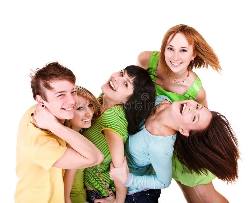 Happyl Gruppe junge Leute. lizenzfreie stockfotografie