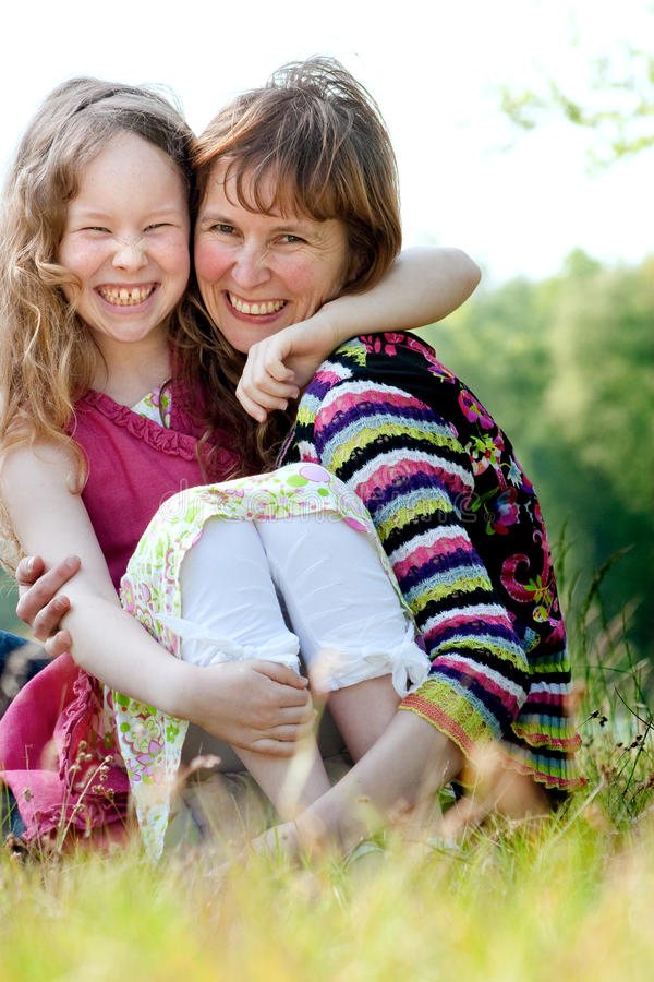 Happyness mother and daugther royalty free stock images