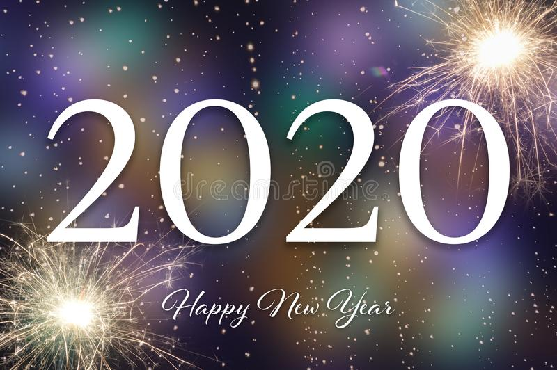 Happy New Year 2020. New Year card royalty free stock photography