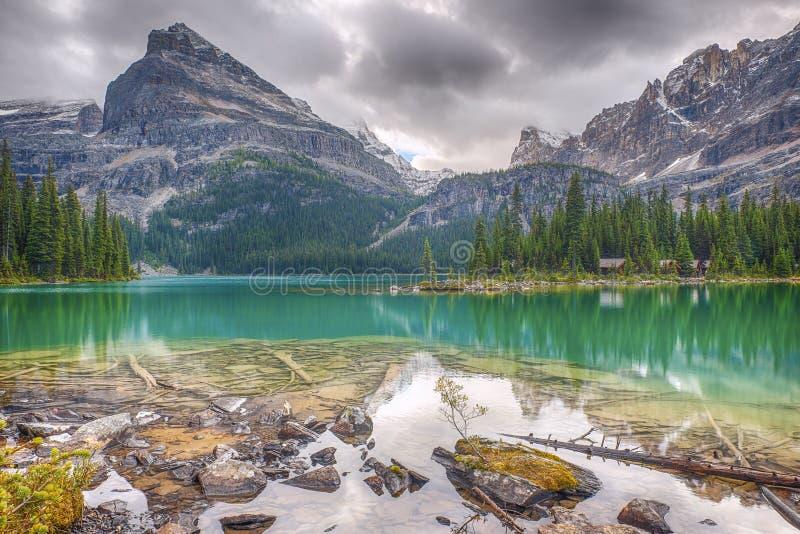 `Hara du lac O Stationnement national de Yoho canada image stock