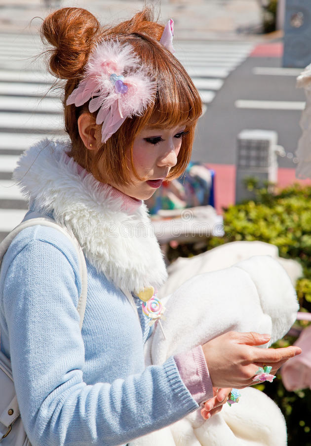 Harajuku-Mädchen in Tokyo, Japan lizenzfreies stockfoto