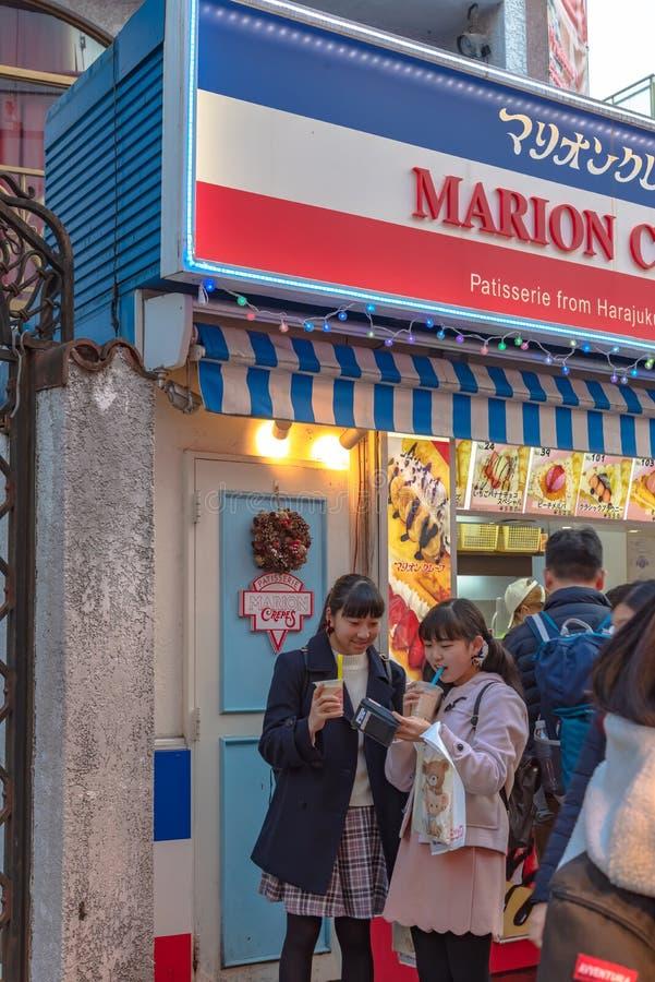 Harajuku, Tokio, Japón - 21 de diciembre de 2018: Opinión de la calle de Harajuku fotografía de archivo libre de regalías