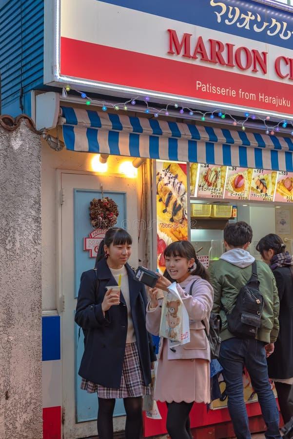 Harajuku, Tokyo, Japan - 21 December 2018: De mening van de Harajukustraat royalty-vrije stock fotografie