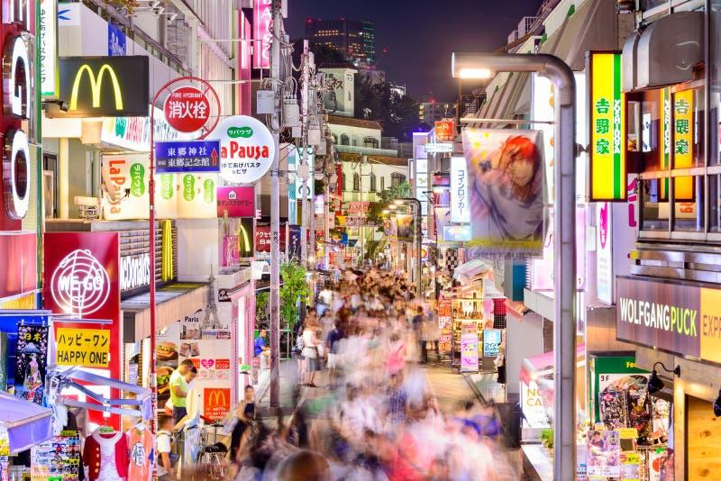 Harajukudistrict van Tokyo royalty-vrije stock foto's