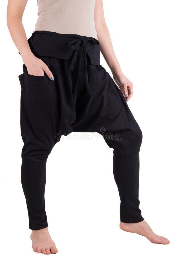 Haram裤子被隔绝在白色 免版税库存图片