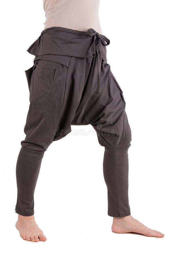 Haram裤子被隔绝在白色 图库摄影