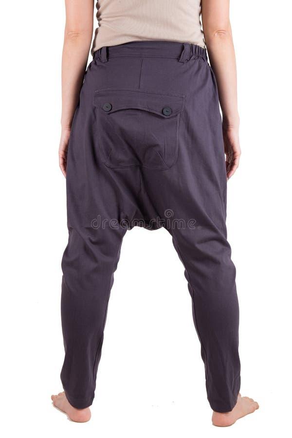 Haram裤子被隔绝在白色 免版税图库摄影