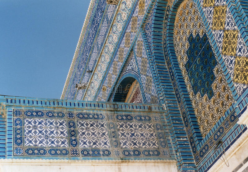 Dome of the Rock Tile Detail stock photos