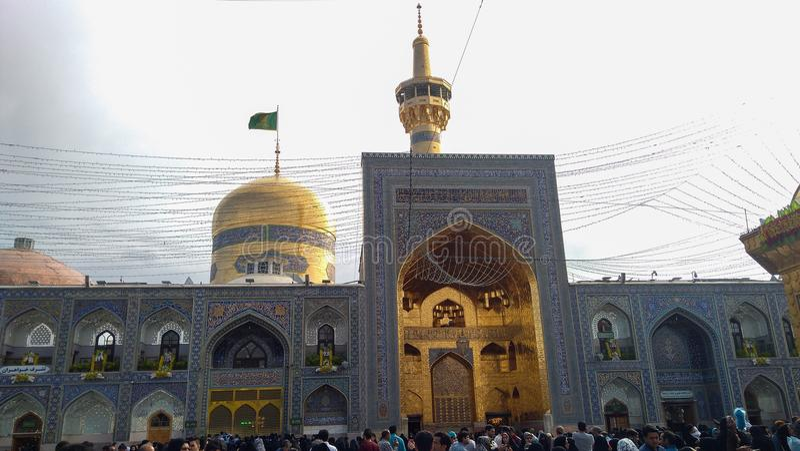 Haram complesso e l'imam Reza Shrine fotografia stock libera da diritti