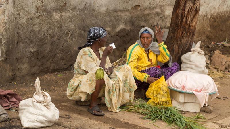 Harar Jugol. HARAR, ETHIOPIA - JULY 26,2014 - Local residents of Jugol, the fortified historic walled city within Harar, which was included in the World Heritage royalty free stock photos