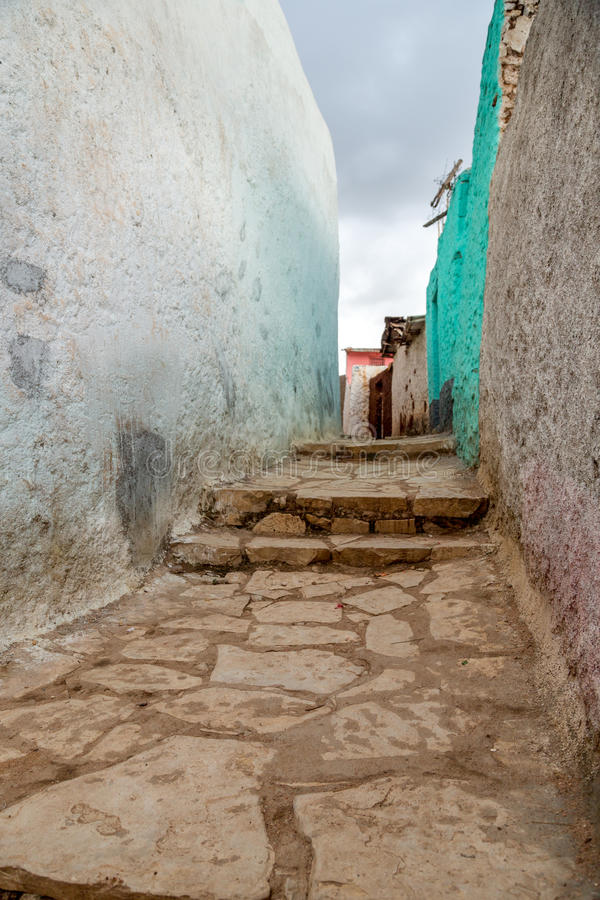 Harar Jugol. The walls of the fortified historic city Jugol, which was included in the World Heritage List for its cultural heritage by UNESCO, and considered as royalty free stock photo