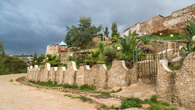 Harar Jugol. The walls of the fortified historic city Jugol, which was included in the World Heritage List for its cultural heritage by UNESCO, and considered as royalty free stock image