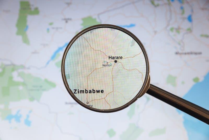 Harare, Simbabwe politische Karte lizenzfreie stockbilder
