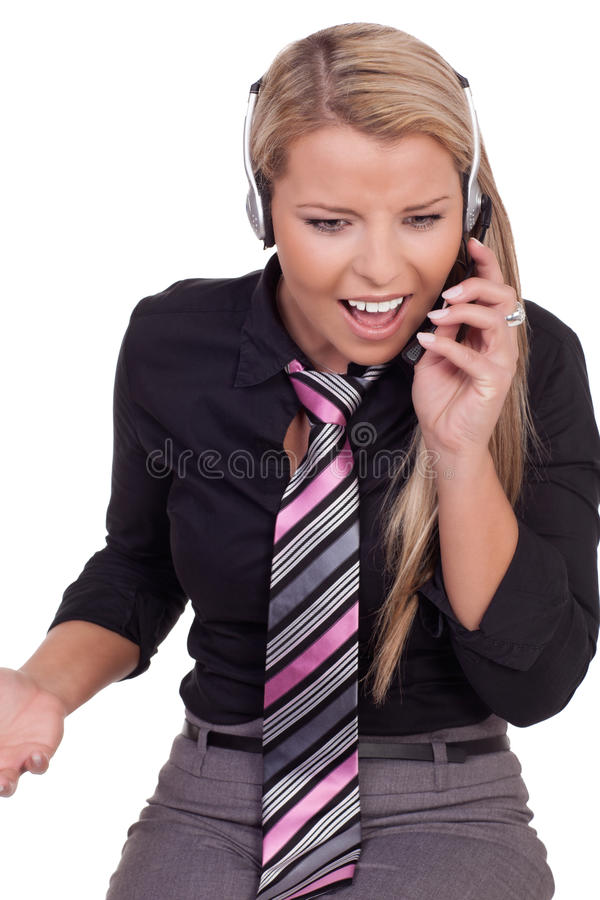 Download Harassed Call Centre Operator Stock Photo - Image: 29101668