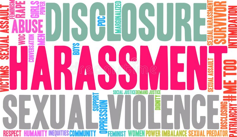 Harassment Word Cloud. On a white background vector illustration