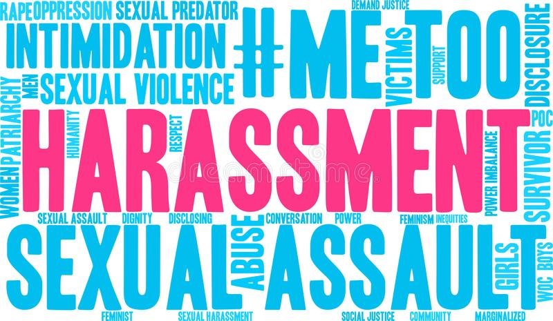 Harassment Word Cloud. On a white background stock illustration