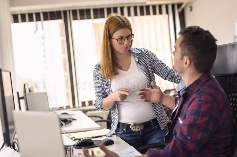 Harassment at work royalty free stock photo
