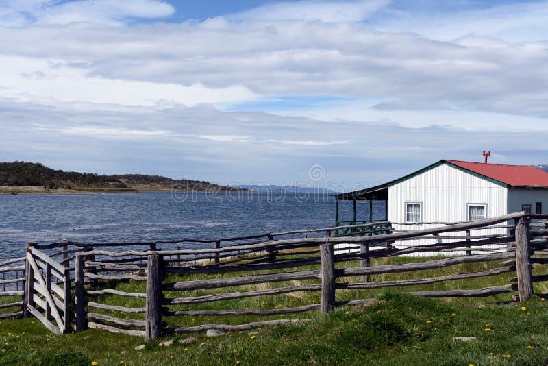 Harberton nieruchomość jest starym gospodarstwem rolnym Tierra Del Fuego obraz stock