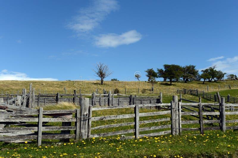 Harberton nieruchomość jest starym gospodarstwem rolnym Tierra Del Fuego obrazy royalty free
