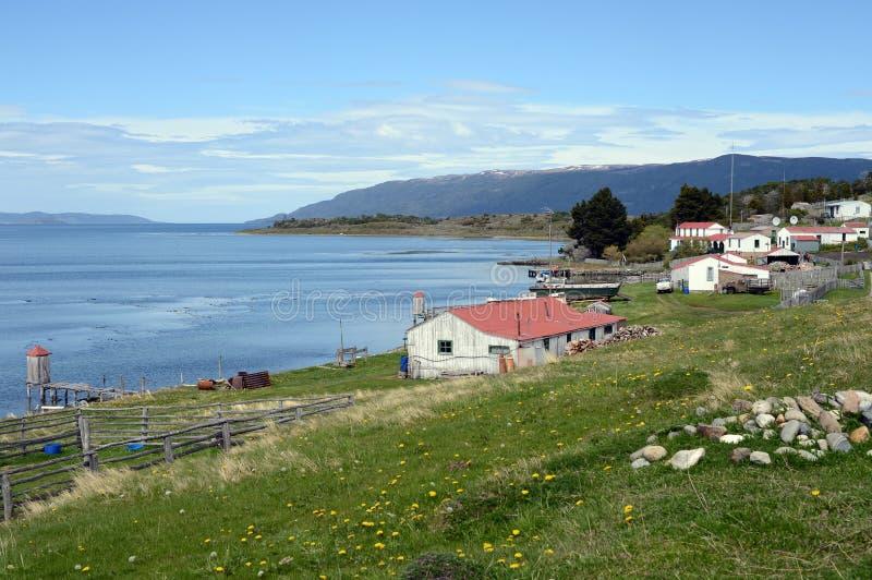 Harberton nieruchomość jest starym gospodarstwem rolnym Tierra Del Fuego zdjęcia stock