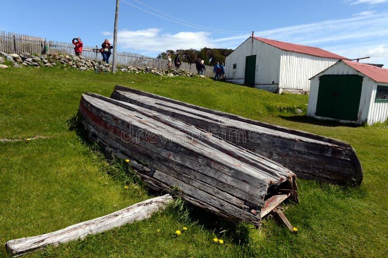 Harberton nieruchomość jest starym gospodarstwem rolnym Tierra Del Fuego i znacząco dziejowy region zabytek zdjęcie stock