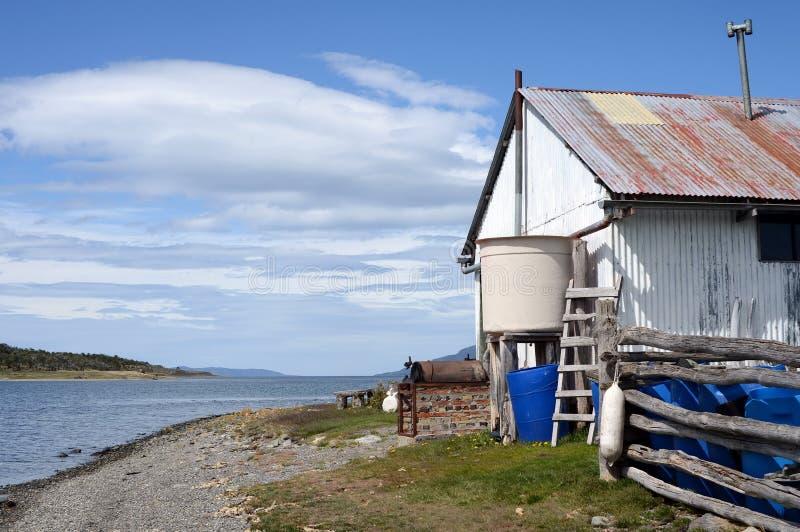 Harberton nieruchomość jest starym gospodarstwem rolnym Tierra Del Fuego i znacząco dziejowy region zabytek fotografia royalty free