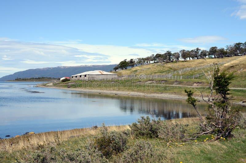 Harberton nieruchomość jest starym gospodarstwem rolnym Tierra Del Fuego i znacząco dziejowy region zabytek obraz royalty free