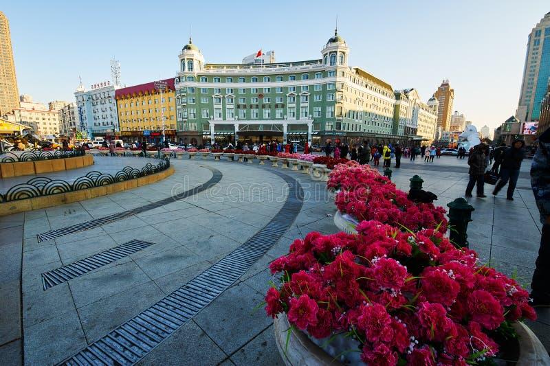 Harbin central street north square stock photos