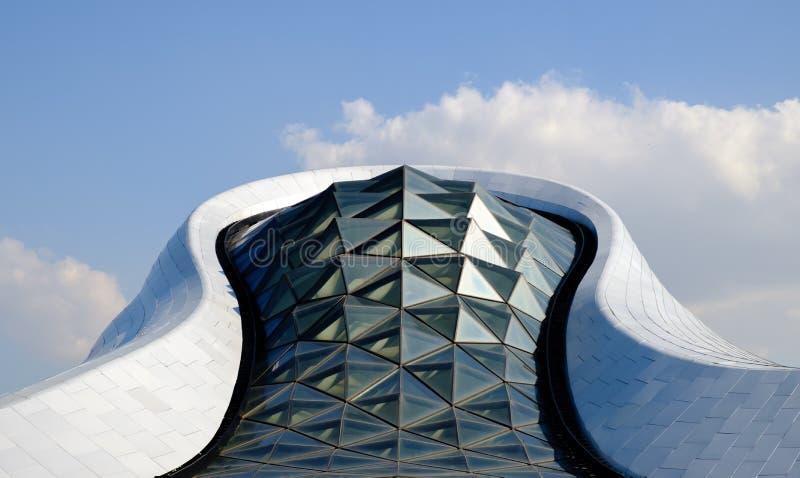 Harbin, China 26 DE SEPTIEMBRE DE 2018: escena del día del teatro de la ópera magnífico de Harbin del teatro de Harbin fotos de archivo
