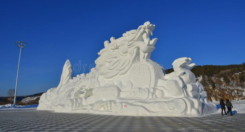 Ice and Snow Sculpture in Harbin, China royalty free stock image