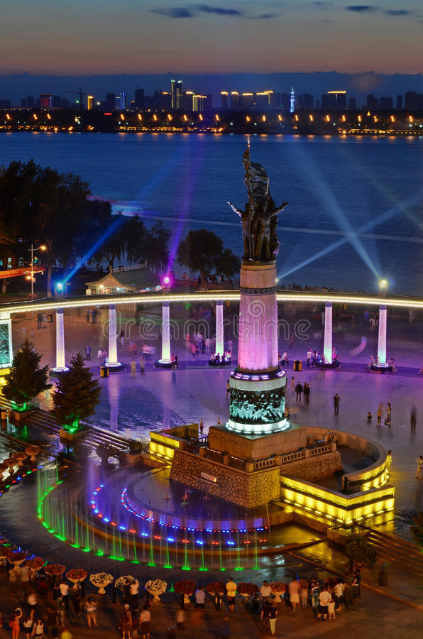 Free Harbin Flood Control Monument Royalty Free Stock Image - 25949726