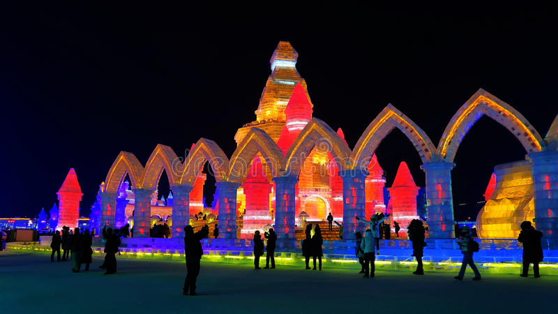Harbin ice show royalty free stock images