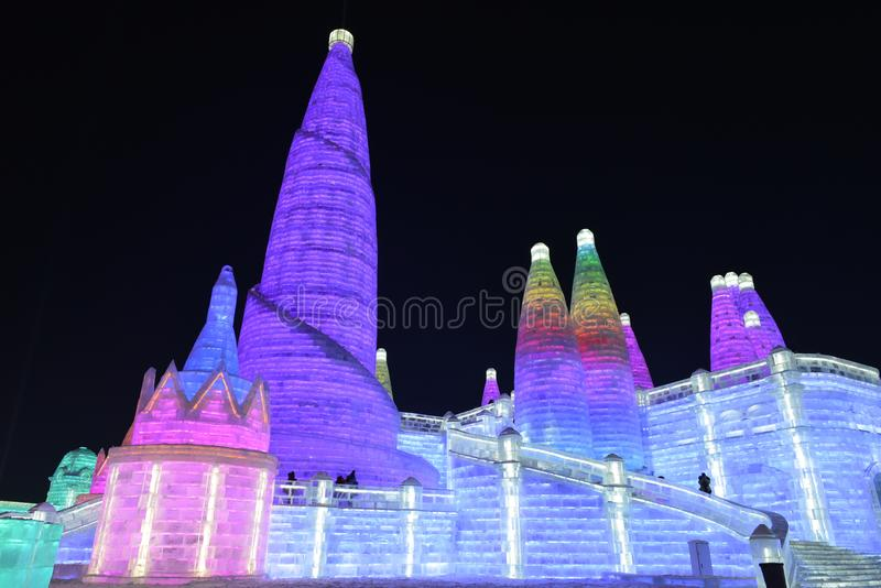 Harbin International Ice and Snow Sculpture Festival 2018 royalty free stock image