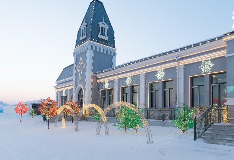 Harbin is och snöfestival 2018 - is gillar glass dagsolsken arkivfoto