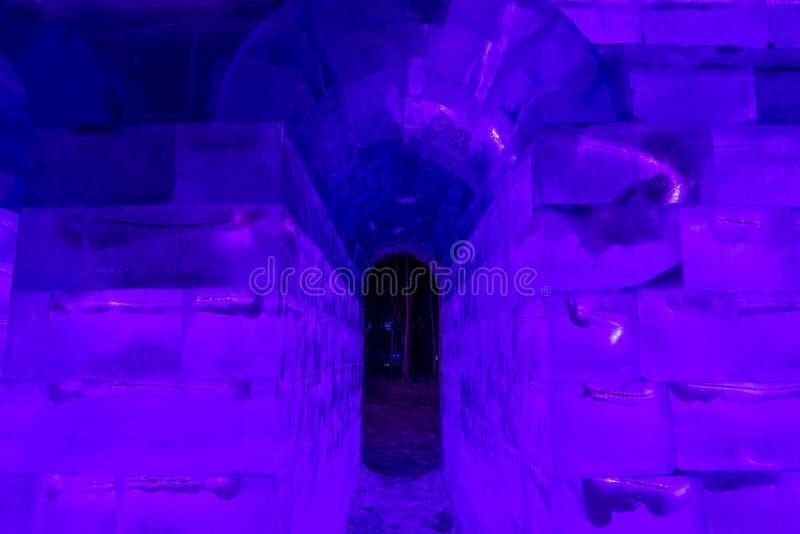 Harbin snö- och isfestival royaltyfria foton