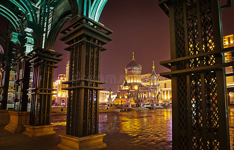 Harbin Sophia kyrka royaltyfri fotografi