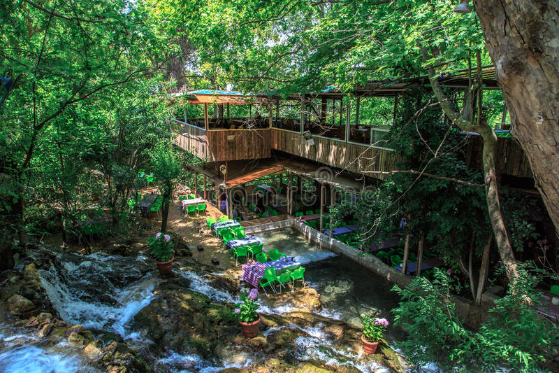 Harbiye-Wasserfall stockfoto
