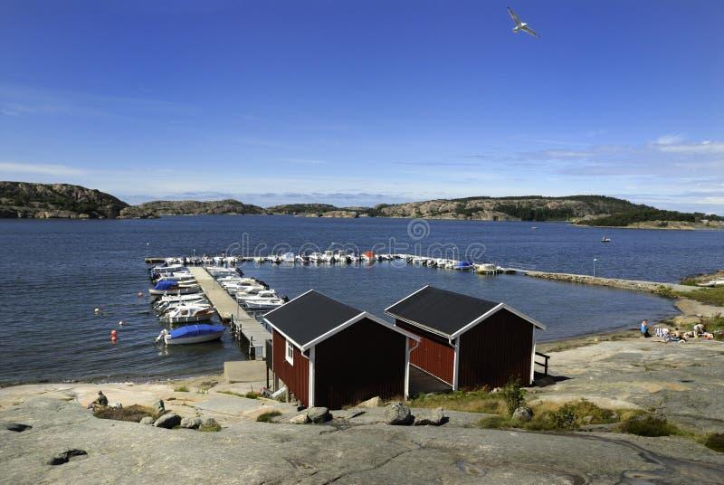 Harbon em Sweden fotografia de stock royalty free
