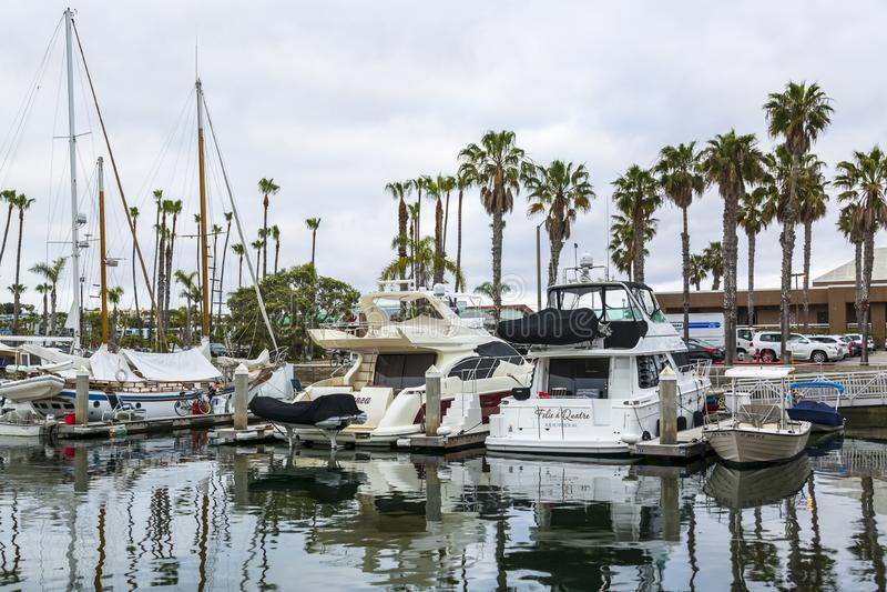 Harbor,雷东多海滩,加利福尼亚,美国,北美洲国王 库存照片