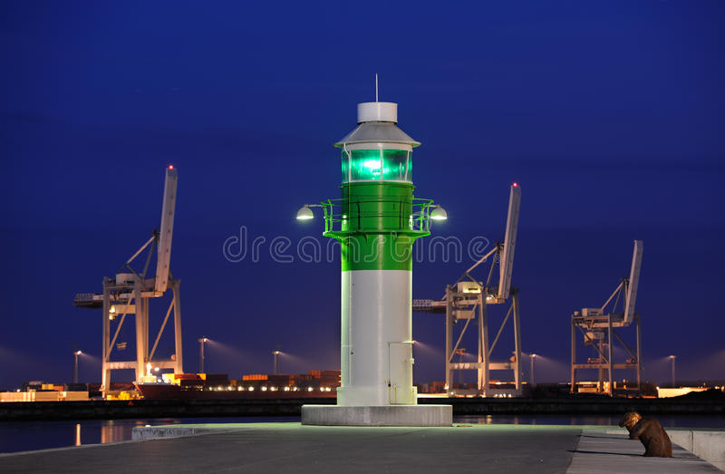 Download Harbor stock image. Image of commercial, illuminated - 25595743
