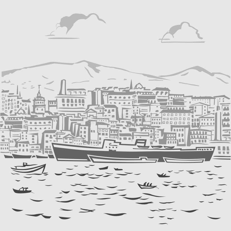 Harbor1 διανυσματική απεικόνιση