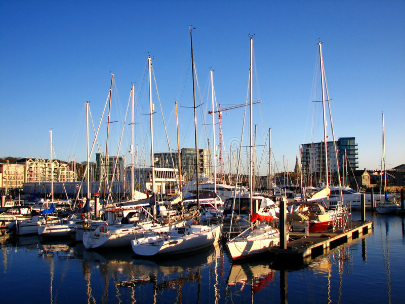 Harbor. Traditional harbor in Plymouth,UK royalty free stock photo