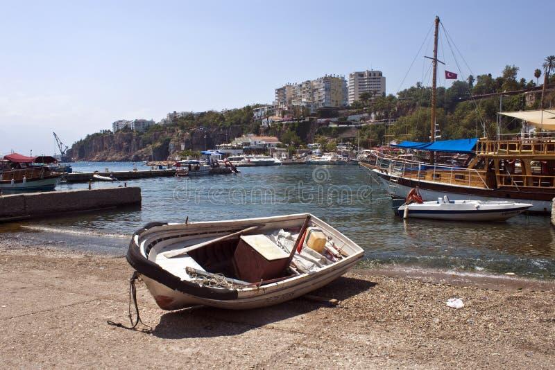 Harbor in Antalya stock photos