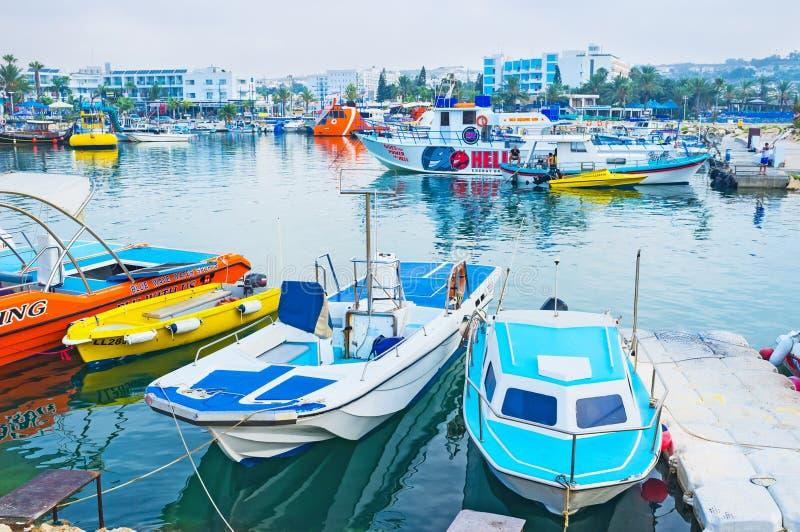 The harbor of Ayia Napa royalty free stock photos