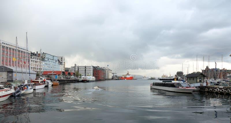 Download Harbor of Bergen, Norway. stock photo. Image of mast - 13574156